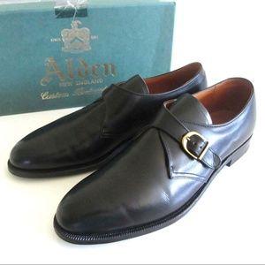 new ALDEN 955 black monk strap buckle shoes 9 1/2